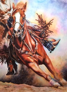 """""""Parting Shot"""" completed and branded with my signature"""