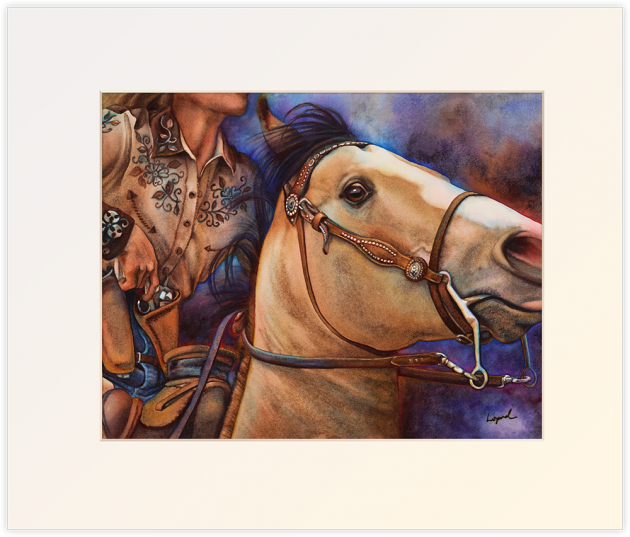 Piece of the Action, Matted Print by Lisa Lopuck