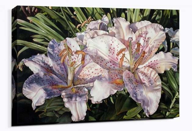 Lilies on the Lanai - Canvas